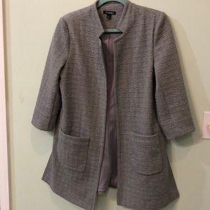 Vintage (style) roz&Ali, gray 3/4 sleeves pea coat